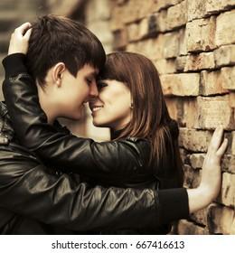 Handsome Teen Guys Kissing