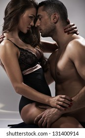 Happy young couple  in sexual intercourse