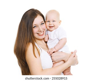Happy young mother with her cute baby