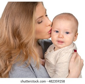 Happy young mother and her son