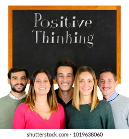 Happy young people with positive thinking