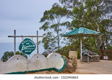 HAPUTALE, SRI LANKA - DECEMBER 11, 2018: Lipton Seat on 11 December 2018 in Haputale, Sri Lanka. One of the most beautiful viewpoints on the island
