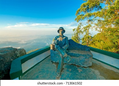 HAPUTALE, SRI LANKA – SEPTEMBER 01: Lipton Seat Viewpoint on September 01, 2017 in Haputale , Sri Lanka. This was a favorite look out point for Sir Thomas Lipton