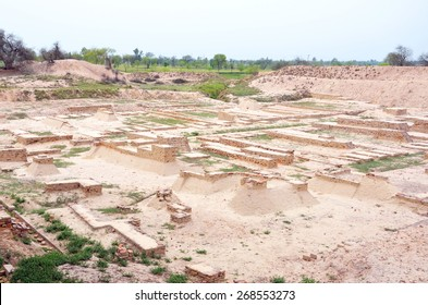 HARAPPA, PAKISTAN - MARCH 26 2015: Harappa is an archaeological site of the Indus Valley Civilization, that emerged circa 2600 BC near Ravi River.