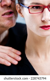 harassement of a woman by a man in an unhealhy workplace
