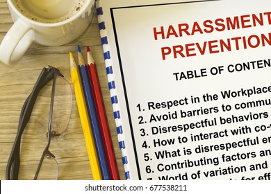 Harassment prevention seminar- with topics on the lecture cover sheet,