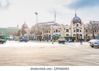 Harbin, China - January 25, 2019: Museum of Heilongjiang Provincial. Located in Hongbo Plaza, Harbin, Heilongjiang, China.