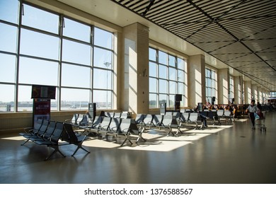 HARBIN, CHINA, OCTOBER 4, 2018: waiting area of Harbin airport