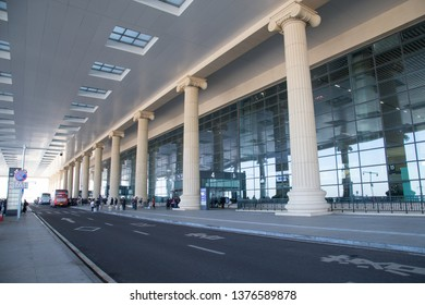 HARBIN, CHINA, OCTOBER 4, 2018: domestic departure hall of Harbin airport