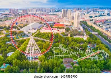 Harbin skyline. Located in Harbin Cultural Park, Heilongjiang, China.