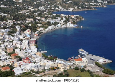 harbor of Agia Marina on Leros island, Greece