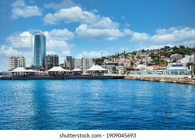 harbor area of Fort-de-France, the capital of France's Caribbean overseas department of Martinique, part of the Lesser Antilles