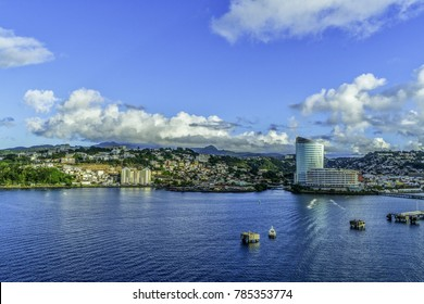 harbor area of Fort-de-France, the capital of France's Caribbean overseas department of Martinique.