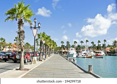 Harbor from Aruba Island in the Caribbean sea