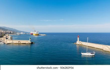 Harbor of Bastia,Corsica,France