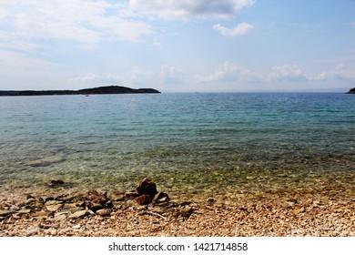 Harbor / beach Rab in Croatia