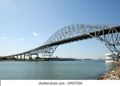 Harbor bridge in Corpus Christi, Texas USA