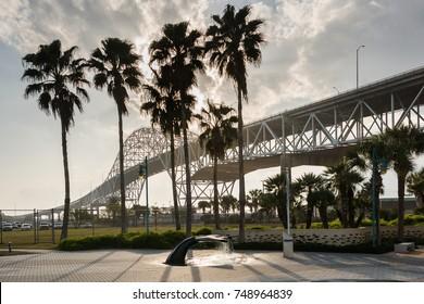 Harbor Bridge at Corpus Christi, Texas at the Gulf of Mexico, USA