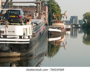 Harbor of the city of Nijkerk in the province Gelderland, Holland, NLD