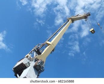 Harbor crane. View from below