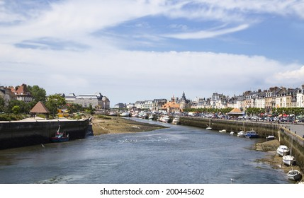 harbor of Deauville and trouville in France