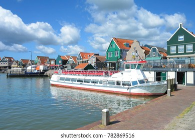 Harbor of Edam Volendam at Ijsselmeer,Netherlands