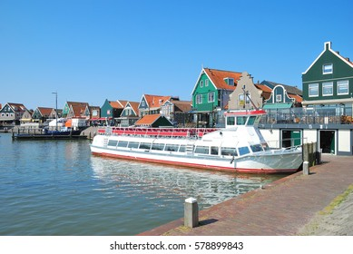 Harbor of Edam-Volendam at Ijsselmeer,Netherlands