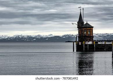 Harbor entrance of Konstanz at Lake Constance