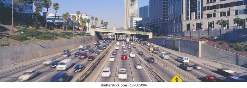 Harbor Freeway at Rush Hour, Los Angeles, California