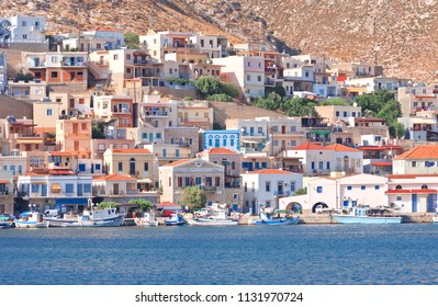 The harbor of the Greece island of Kalymnos, the sponge diving capital of the world