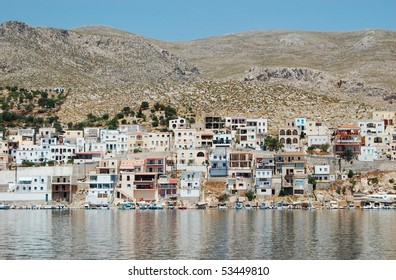 The harbor of the Greek island of Kalymnos, the sponge diving capital of the world