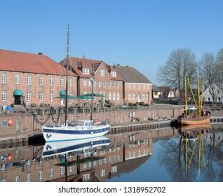 Harbor of Hooksiel in Wangerland region,East Frisia,North Sea,lower Saxony,Germany