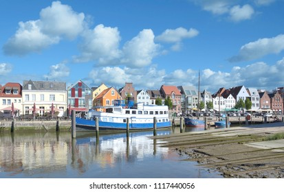 Harbor of Husum at North Sea in Schleswig-Holstein,Germany
