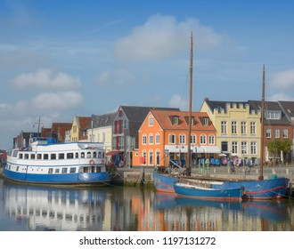 in Harbor of Husum at North Sea,Schleswig-Holstein,Germany