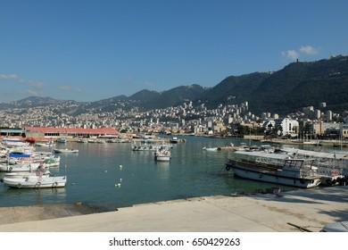 Harbor of Jounieh, Lebanon
