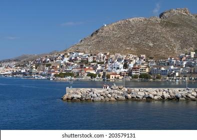 Harbor of Kalymnos island in Greece