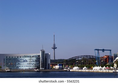 The harbor in Kiel in Germany