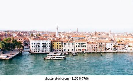 The harbor landscape of Venice