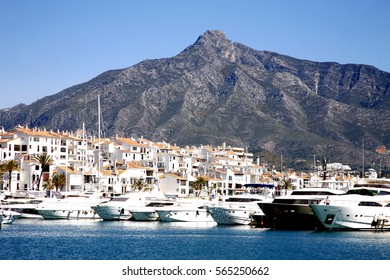 Harbor of Marbella, Spain