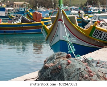 the Harbor of marsaxlokk on malta