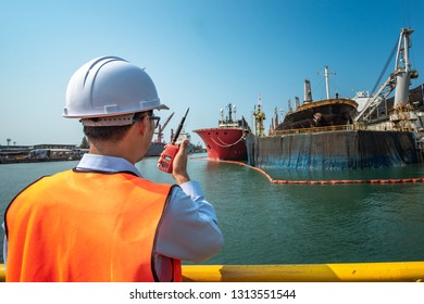 harbor master port control or engineering in command the ship to takes berthing to alongside the terminal docking, the ship securing safe floating dock yard, dry dock alongside for repairing