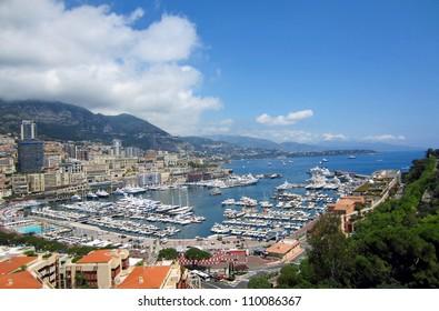 Harbor in Monte Carlo