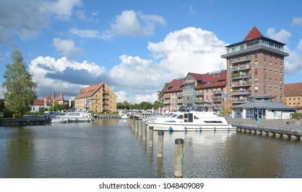 Harbor of Neustrelitz in Mecklenburg Lake District,Germany
