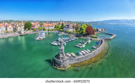 Harbor on Lake Constance in Lindau, Bavaria, Germany