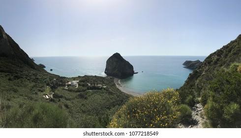 The harbor of Palmarola island