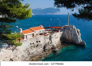 Harbor in Petrovac city, Montenegro