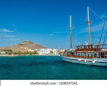 harbor piso livadi paros island with cyclades architecture resort town
