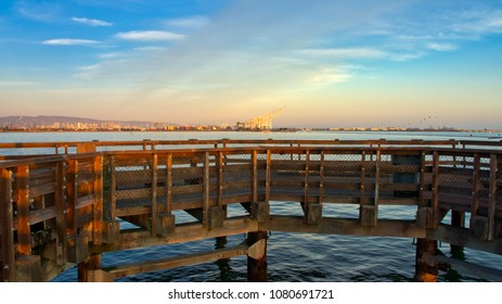 Harbor at the Port of Oakland, California, USA