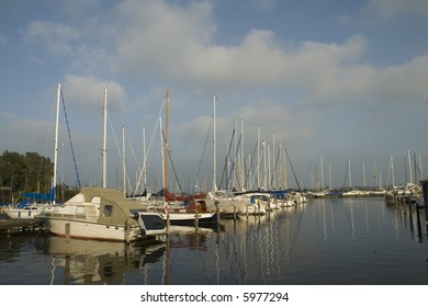 harbor for recreational boats like motorboats and sailboats