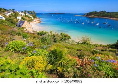 The harbor of Saint Pabu, Finistère, Brittany, France